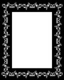 Border frame black and white. Decorative black frame on white for ornamental border or background Royalty Free Stock Images