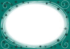 Border frame with blue and green circles. Circles frame with inner space to write message or pin photos Stock Photography