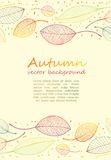 Border frame of colorful autumn leaves Stock Photo