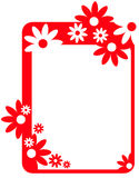 Border frame with coral flowers Royalty Free Stock Image