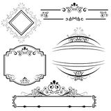Border and frame designs. Calligraphic border and frame designs Stock Photo