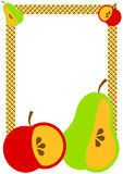Border frame with fruits Royalty Free Stock Photo