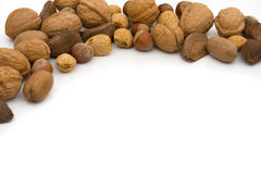 Border frame of healthy walnuts Royalty Free Stock Photography