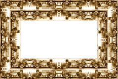 Border frame with an industrial twist stock photos