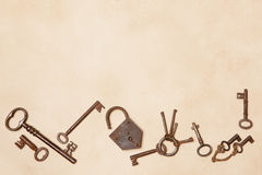 Border frame of keys Stock Photo