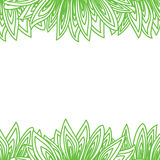 Border frame with many green leaves Royalty Free Stock Image