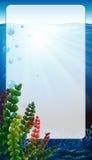 Border frame with scene underwater Stock Image
