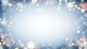 Border frame with snowflakes and stars vector illustration