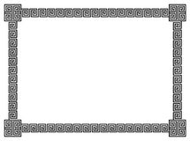 border geometriska scrolls Arkivfoton