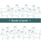Border of goats Royalty Free Stock Images