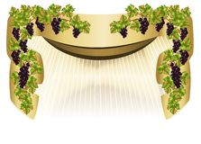 Border with grapes, cdr vector Stock Photos