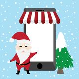 Border graphic cartoon about Santa claus and reindeer in Christmas day vector illustration