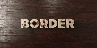 Border - grungy wooden headline on Maple  - 3D rendered royalty free stock image Royalty Free Stock Photos