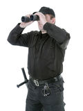 Border guard with binocular stock photography