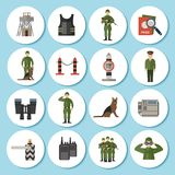 Border Guard Icon Flat Royalty Free Stock Image