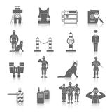 Border Guard Icon Set Royalty Free Stock Image