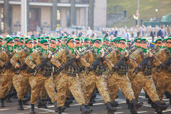 Border guard troopers of the Ukrainian Army in Kyiv, Ukraine Royalty Free Stock Image