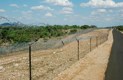 Border high security fence Stock Photos