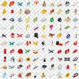 100 border icons set, isometric 3d style. 100 border icons set in isometric 3d style for any design vector illustration stock illustration