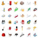 Border icons set, isometric style. Border icons set. Isometric style of 36 border vector icons for web isolated on white background Royalty Free Stock Images
