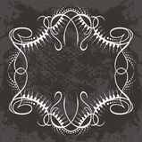 Border illustration in white. A black and white illustration of a filigree border vector illustration