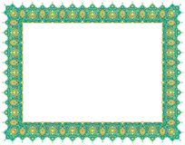 Floral Art Ornament Border in Green colour royalty free stock photo