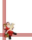 border jul claus santa stock illustrationer