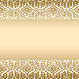Border With Knitted Seamless Ornament Stock Photos