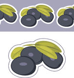 Border and label with olives Royalty Free Stock Image