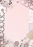 Border with lace. Royalty Free Stock Photo