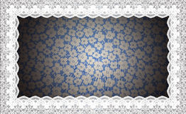 Border Lace Fabric frame isolate Stock Image