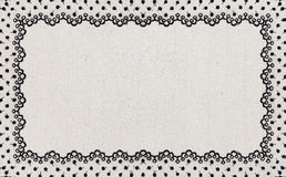 Border Lace Fabric frame isolate Stock Photography