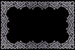 Border Lace Fabric frame isolate Stock Photos