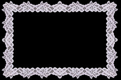 Border Lace Fabric frame isolate Stock Images