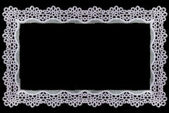 Border Lace Fabric frame isolate Royalty Free Stock Images