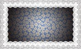 Border Lace Fabric frame isolate Stock Image