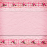 Border of lace with roses Stock Photo