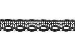 Border lace. Tape of black border lace isolated over white royalty free stock photography