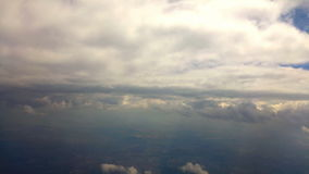 Border between land and sky from plane window. Video of border between land and sky from plane window stock video footage