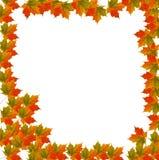 Border Leaf background for Autumn stock illustration