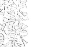 Border of letters. On a white background with copyspace Royalty Free Stock Photos