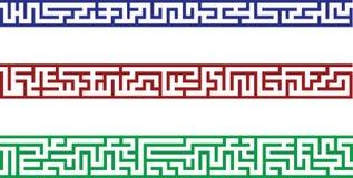 Border like a maze Royalty Free Stock Image