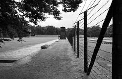 Border line to concentration camp Stutthof Royalty Free Stock Images