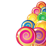 Border of lollipops. Royalty Free Stock Images