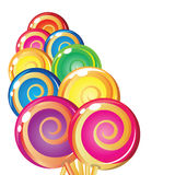 Border of lollipops. Royalty Free Stock Photography