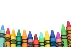 Border made from crayons Royalty Free Stock Photo