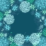 Border made of flowers, vector illustration Stock Image