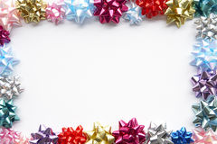 Border Made From Gift Bows Royalty Free Stock Photography