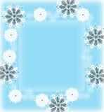 Border made of hand-drawn snowflakes Royalty Free Stock Image