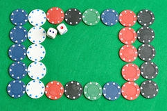 A border made out of poker chips Stock Image